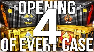 OPENING 4 OF EVERY CS:GO CASE EVER (124 CASE UNBOX)