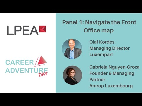 LPEA Career Adventure Day 07/10/2021 - Panel 1: Navigate the Front Office map