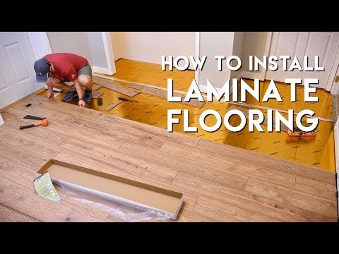 Installing Laminate Flooring For The First Time // Home Reno