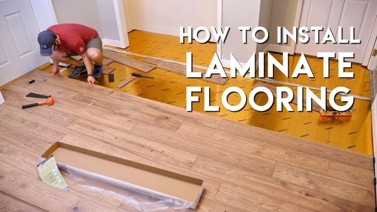 installing laminate flooring for the first time home renovation