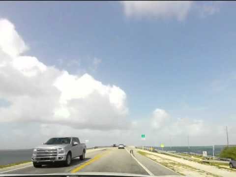 4 hours Time Lapse trip from downtown Miami to Key West