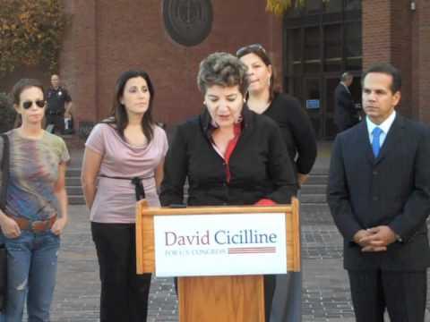 Donna Nesselbush at Cicilline for Congress Press Conference