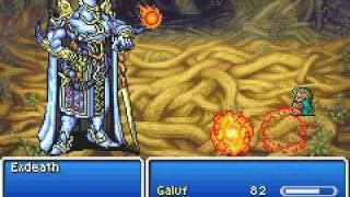 Final Fantasy V - Galuf's demise (Galuf Vs Exdeath)
