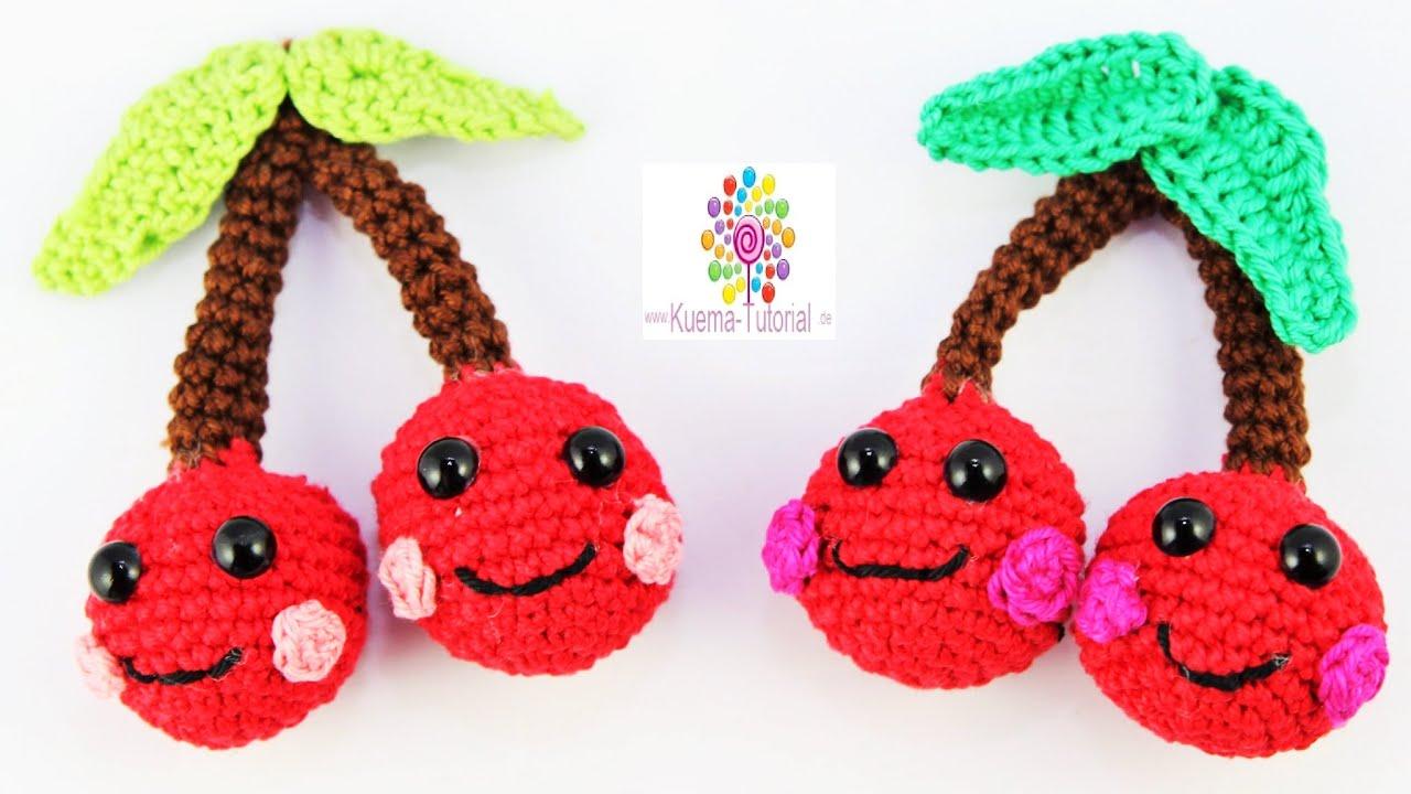 Amigurumi Niedliche Kirschen Kawaii Cherrys Häkeln Youtube