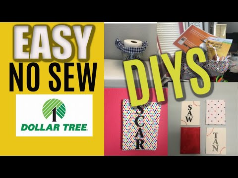 Easy No Sew Diy Projects Using Dollar Tree Craft Fabric