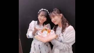 AKB48 小嶋真子 岡田奈々 向井地美音 1日早いハッピーバースデー 2018-0...