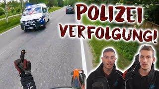 Er haut vor der Polizei ab!