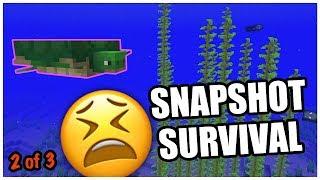 DAMP DOOM! - Minecraft Update Aquatic Snapshot Survival Experiment | Pt 2 of 3