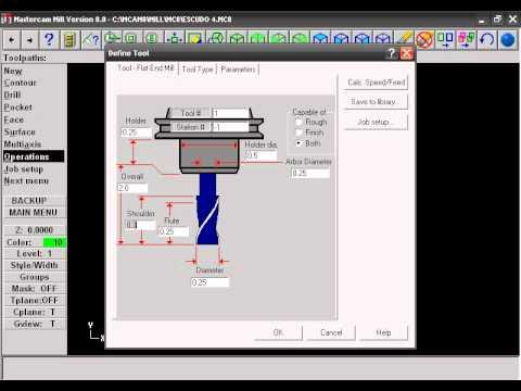 Maquinado CNC (Mastercam Mill Version 8 0) Parte 2