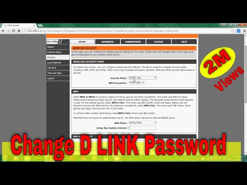 How to change D-Link router's wifi password