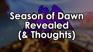 Destiny 2: Season of Dawn Revealed (& Datto's Thoughts)
