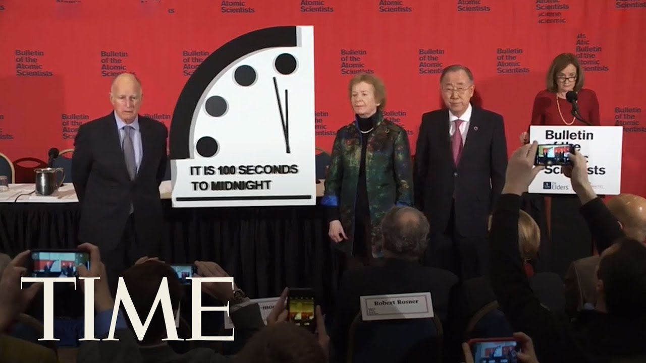 Doomsday Clock is now 100 seconds from midnight