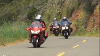 2009 Sport-Touring Motorcycle Shootout - BMW vs Honda vs Kawasaki vs Yamaha
