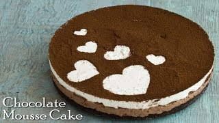 Chocolate Mousse Cake | No Gelatine or Agar Agar Mousse Cake | No bake Cake ~ The Terrace Kitchen