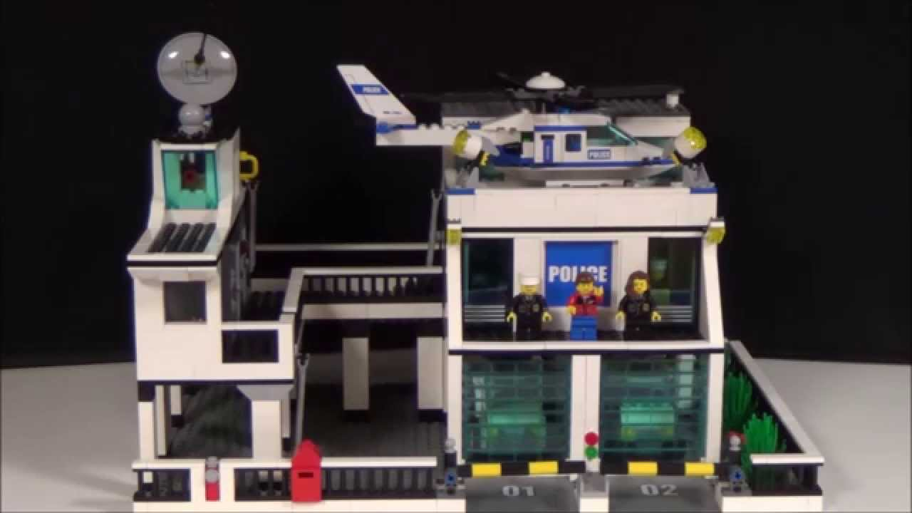 Custom Lego City Police Station! - YouTube