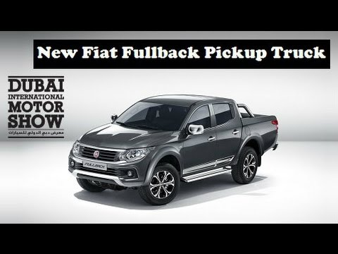 new fiat fullback pickup truck unveils at 2015 dubai motor show youtube. Black Bedroom Furniture Sets. Home Design Ideas