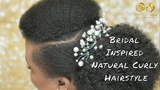 Bridal Inspired Hair And Makeup | Natural Curly Afro Hair | #afrobridalupdo #nauturalhair No.10