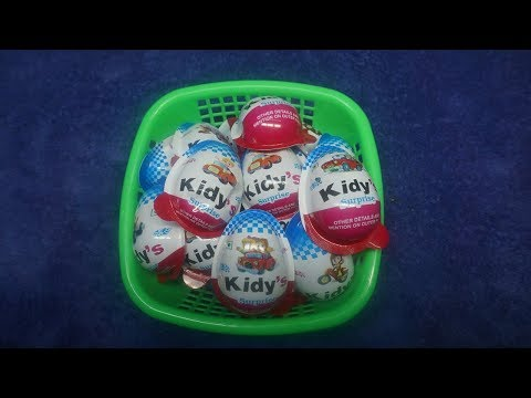 BASKET Full of Kidy's Surprise Egg with Surprise Toys and Free Gifts