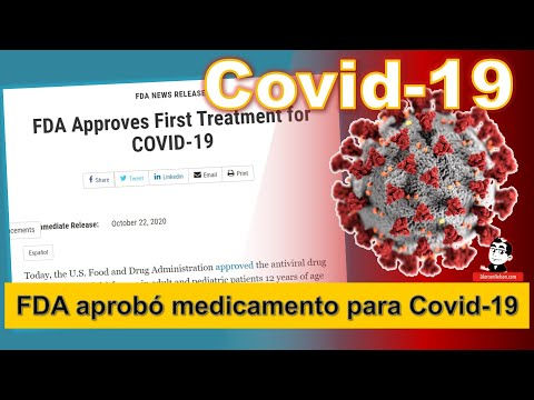 La FDA aprobó medicamento para Covid-19 - Veklury - ☣ Pandemia Coronavirus a Octubre 23 2020