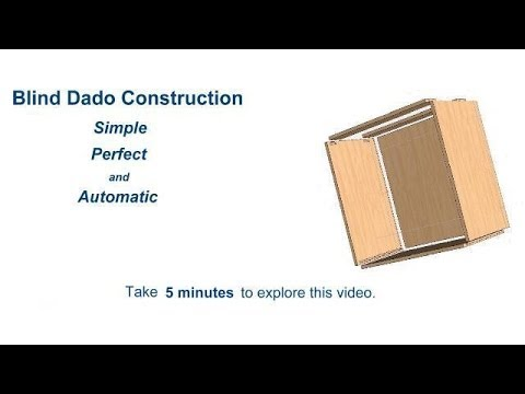 Cabinet Pro Software: Blind Dado Construction In Cabinet Pro