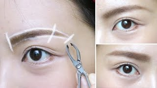 How to shape and groom eyebrows (arched and straight)