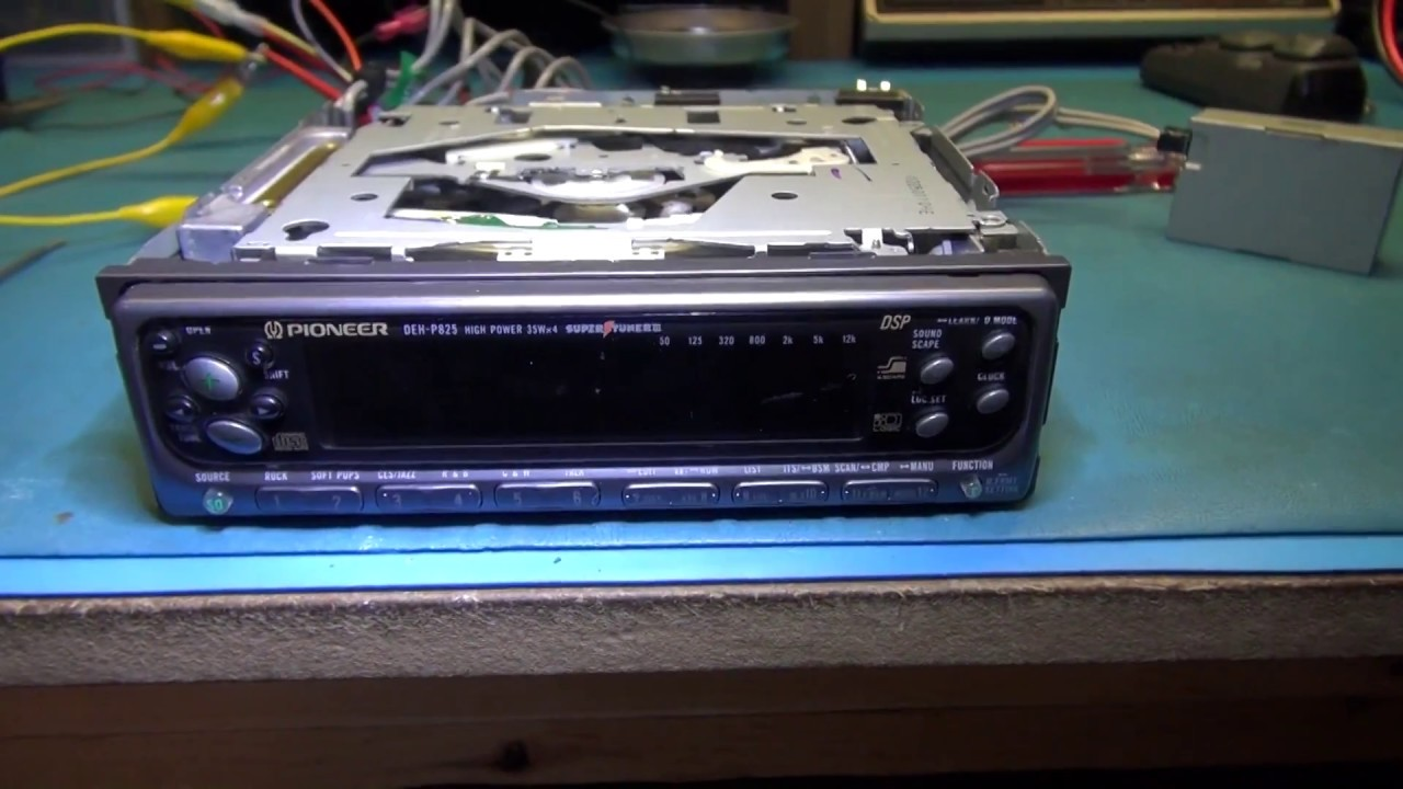 hight resolution of pioneer deh p825 no display back light repair