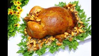 دجاج محشي بالارز المبهر و الفريكة مشوية في الفرن ب ابسط طريقة الدجاج يدوب مع رباح محمد