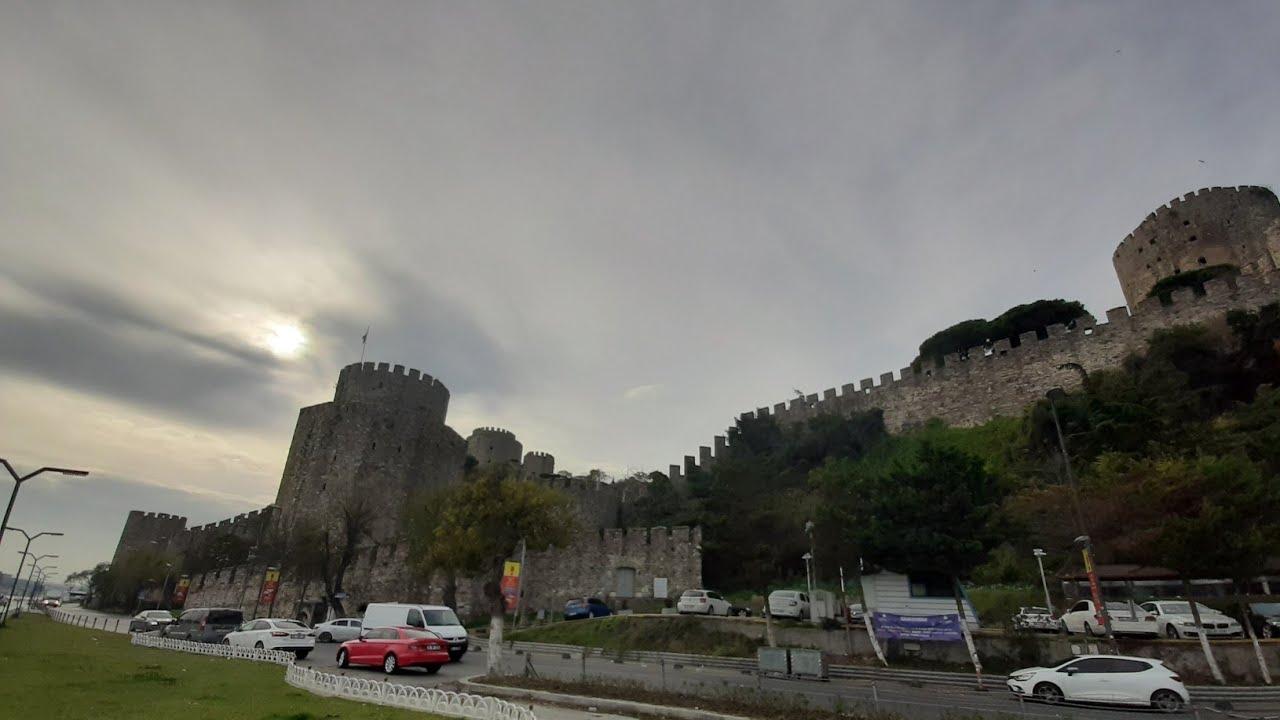 Зимний Стамбул. Византийская крепость Rumeli Hisari, 11.12.2019 Winter Istanbul.