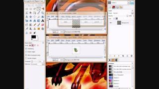 How to make the sprite's background transparent using GIMP