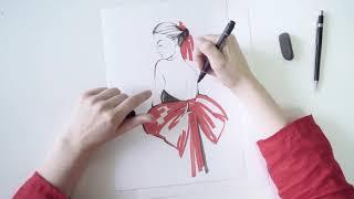 Урок по fashion иллюстрации от ART STUDIO 8 и Олеси Козловой