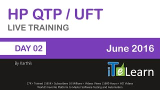 hp qtp uft live training demo session day 02 by karthik