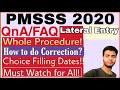 Gambar cover PMSSS 2020 QnA Proced. after Verification|All Queries Solved|Lateral Entry|Choice Filling,etc.🔥