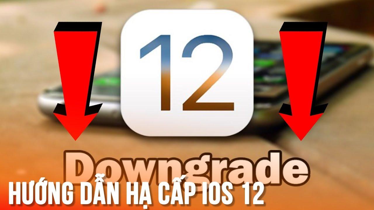 Hạ cấp iOS 12 xuống các phiên bản thấp hơn
