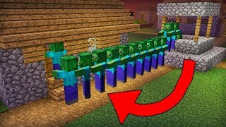 CAN THIS CROWD OF ZOMBIES EAT VILLAGER IN MINECRAFT?!