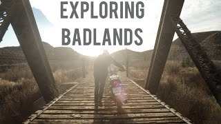 Exploring the badlands on 80's bikes