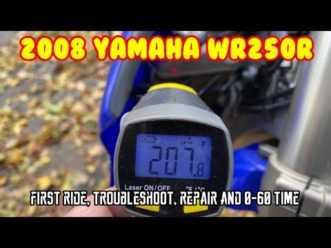 [E1] Yamaha WR250R (2008) First ride Troubleshoot repair 0-60 time Tw200 vs WR250