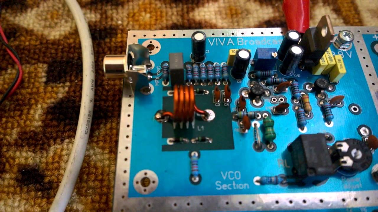 fm transmitter exciter 88 108 mhz youtube