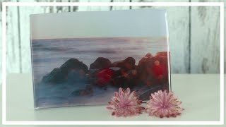 DIY Picture behind Glass Decoration but using Epoxy Resin