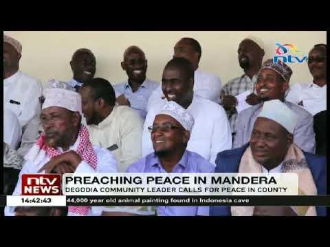 Download Degodia community leader calls for peace in Mandera County