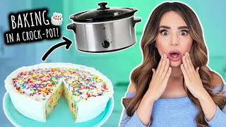 I Tried Baking A CAKE In A Crock Pot!