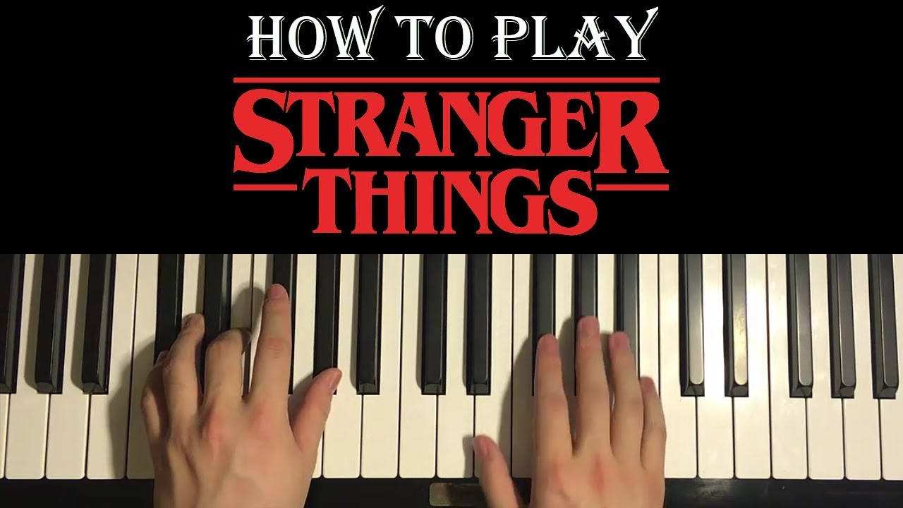 Stranger Things - Main Theme (Piano Tutorial Lesson)