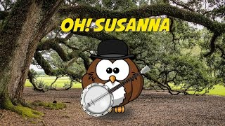 Oh! Susanna (folk song - instrumental - lyrics video for karaoke)