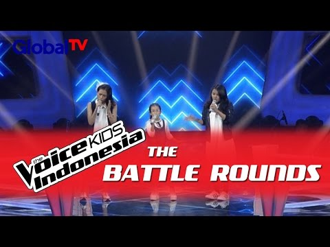 """Shakira vs Indira vs Dhatu """"Almost Is..."""" I The Battle Rounds I The Voice Kids Indonesia 2016"""