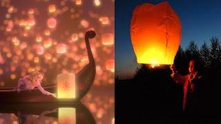 Запускаем небесные фонарики   Как запускать Китайские Фонарики