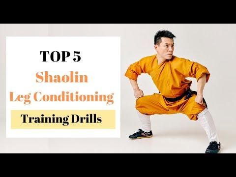 Top 5 Shaolin Kung Fu Leg Strengthening Conditioning Training Drills