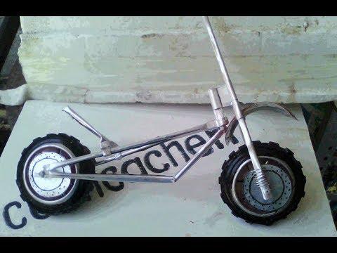 Tutorial hacer una moto deportiva con Aluminio reciclado 1 de 2