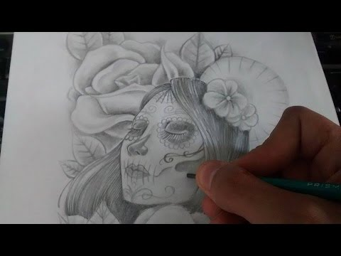 Diseño Catrina/Rosas - Nosfe Ink Tattoo - YouTube
