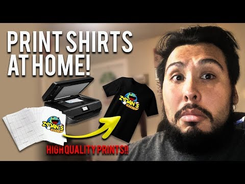 The Best Heat Transfer Paper To Print Shirts At Home With A Inkjet Printer