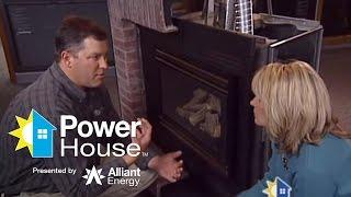 Gas fireplace insert technology