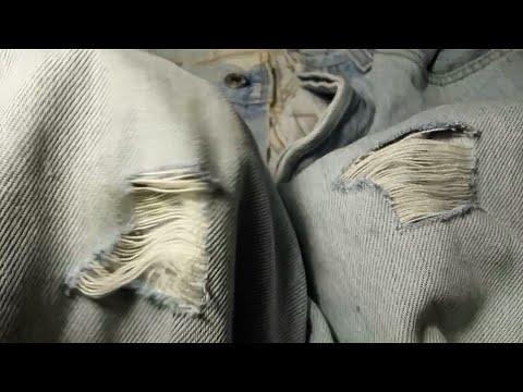 Как сделать красивые дырки на джинсах в домашних условиях видео